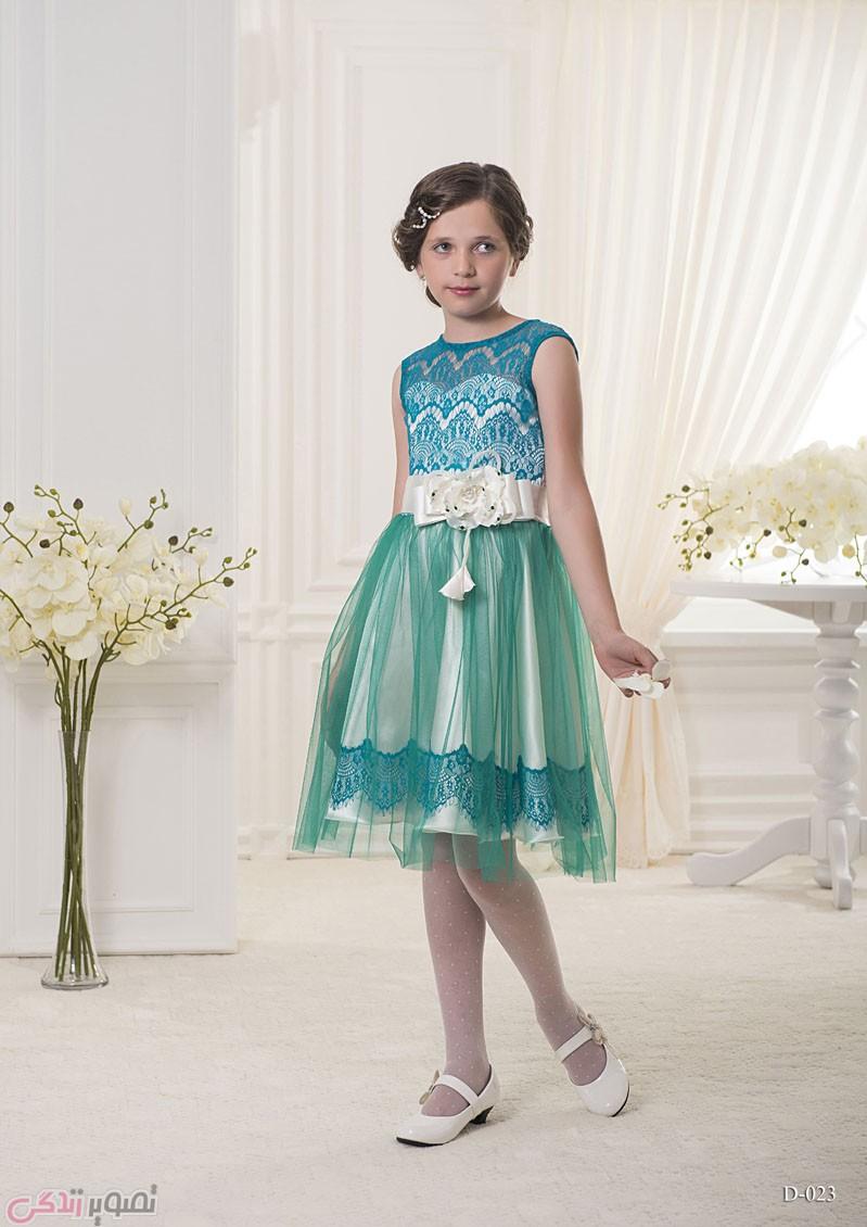 لباس مجلسی بچه گانه, پیراهن حریر مجلسی دخترانه