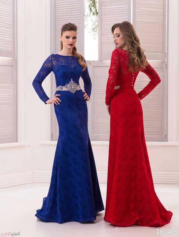 مدل مانتو لمه جدیدترین مدل لباس شب پوشیده | مدل لباس مجلسی آستین دار ...