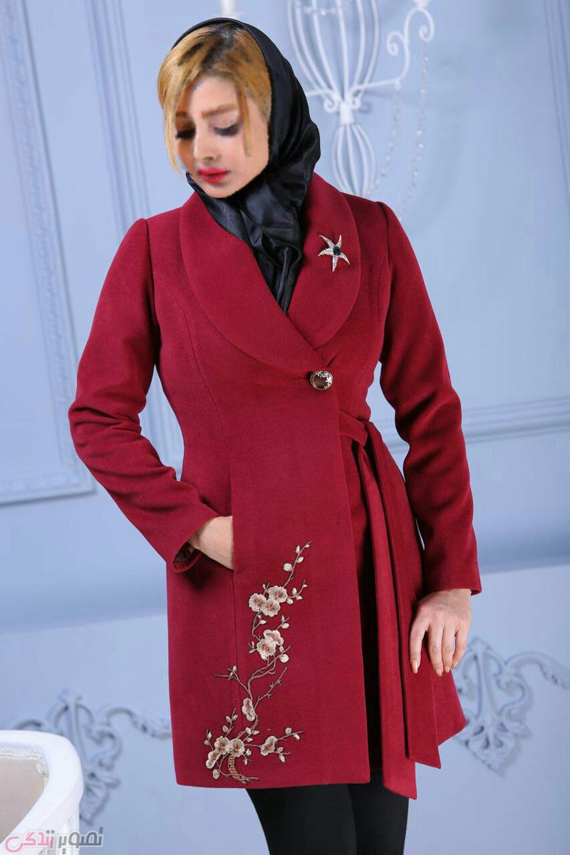 جدیدترین مدل پالتو دخترانه, پالتو فوتر قرمز
