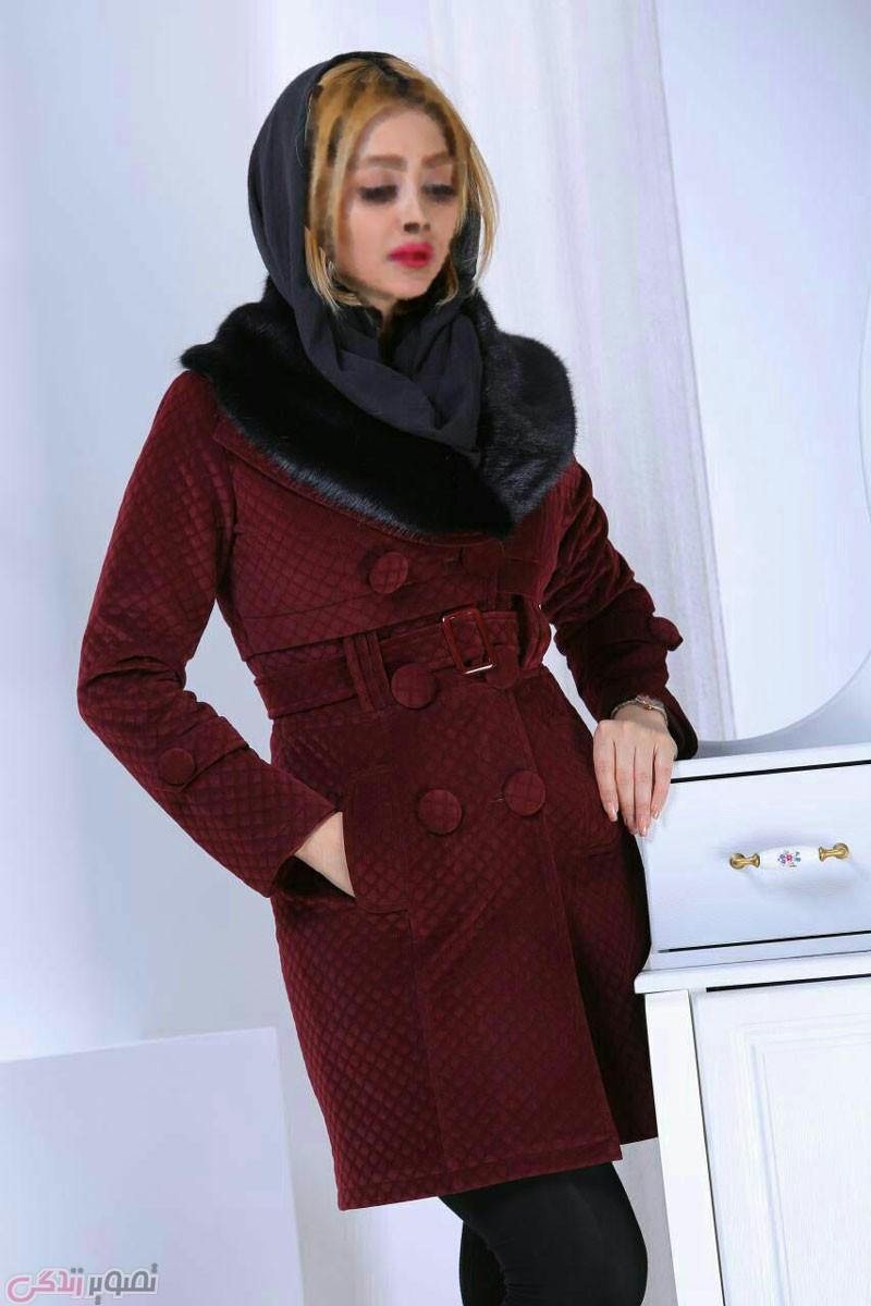 جدیدترین مدل پالتو دخترانه, پالتو مخمل زنانه
