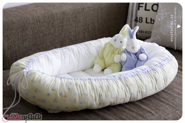 آموزش دوخت تشک خواب نوزاد • آموزش دوخت سبد خواب بچه به ...
