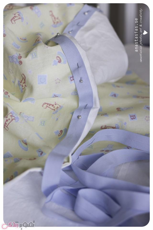 آموزش دوخت تشک خواب نوزاد , دوخت سبد خواب نوزاد