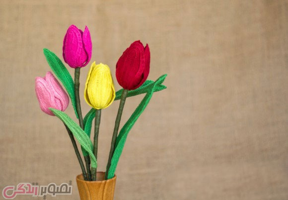 آموزش بافت گل لاله با قلاب, پترن گل لاله