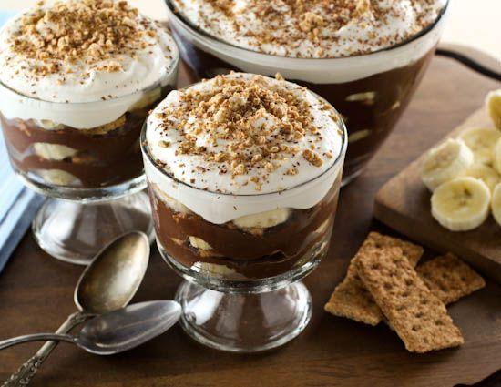 پودینگ شکلاتی و موز , دسر مجلسی