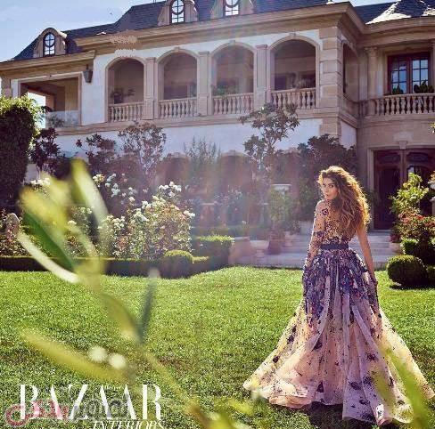 شیوا صفایی مدلینگ ایرانی در حیاط کاخ شوهر میلیاردر عرب خود