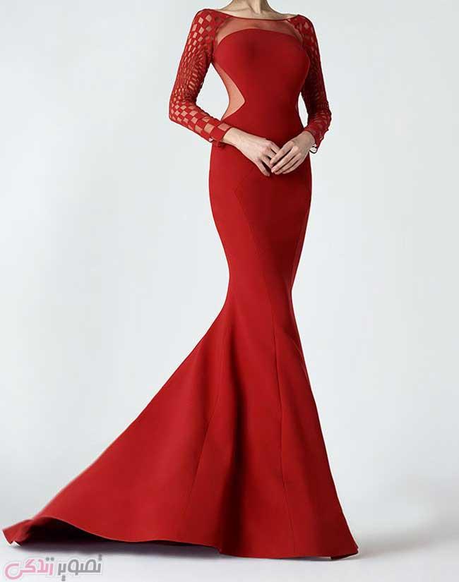 لباس مجلسی قرمز , مدل لباس شب قرمز