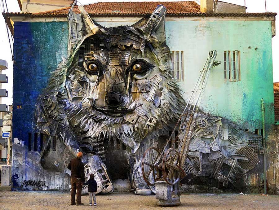 ساخت مجسمه های دیدنی با زباله, مجسمه حیوانات
