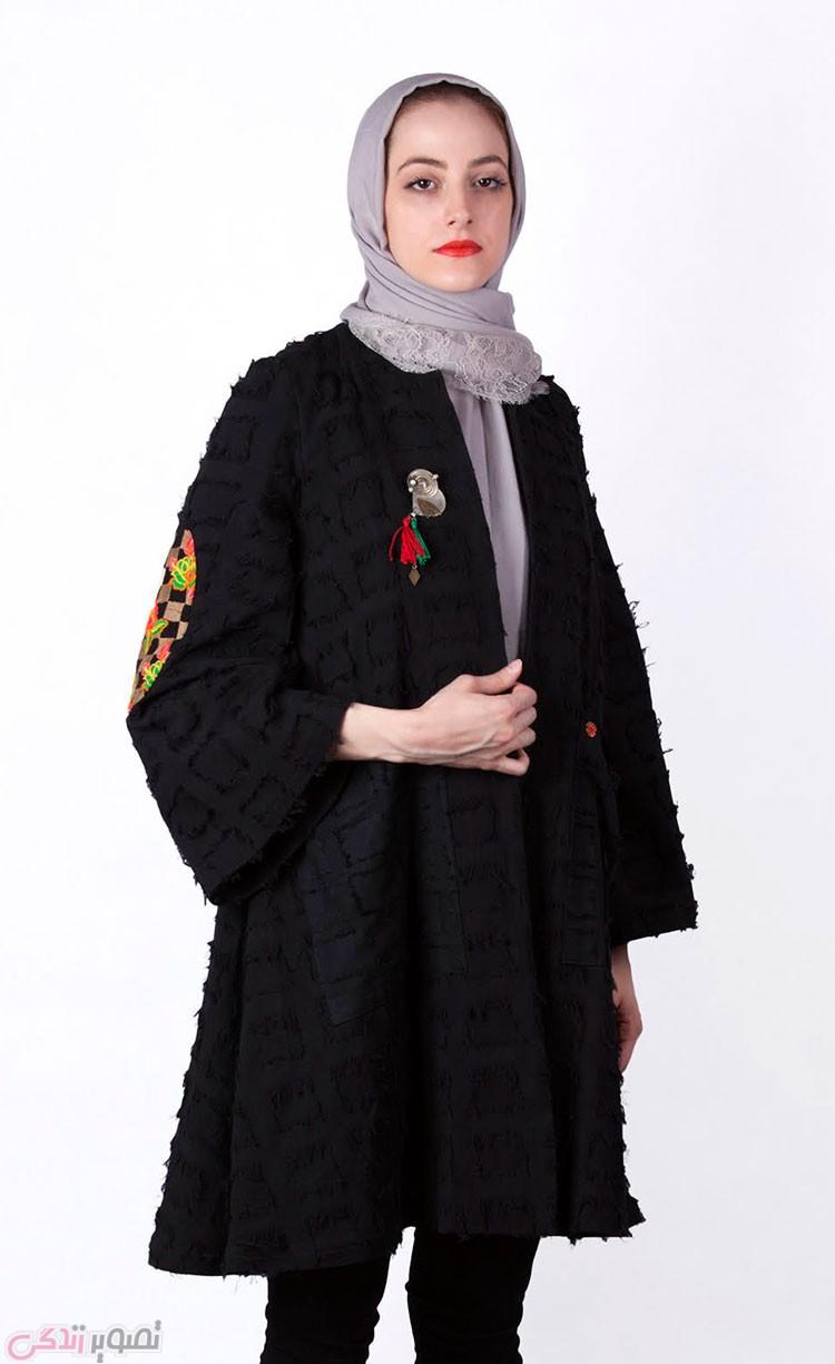 مدل مانتو کیمونو مشکی, مانتو مجلسی جدید