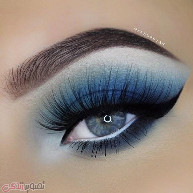 آرایش چشم حرفه ای, سایه چشم آبی