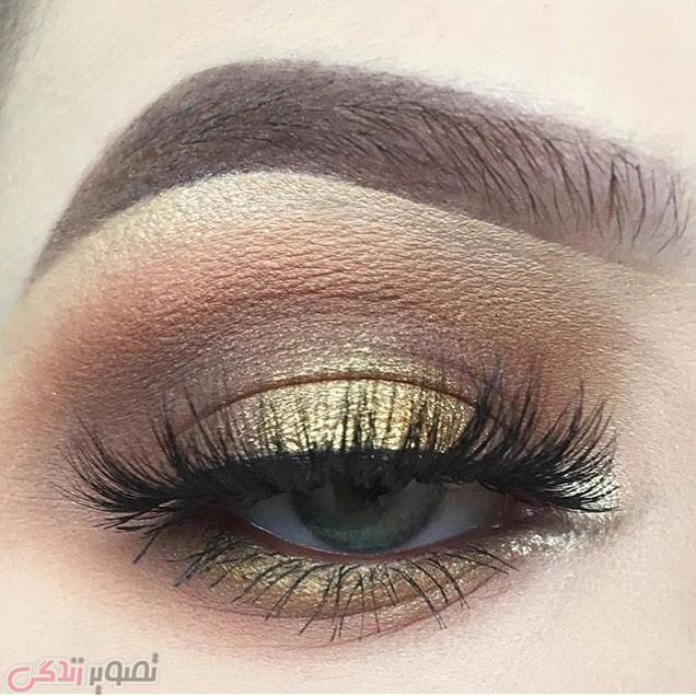 میکاپ چشم, سایه چشم طلایی