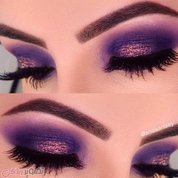 آرایش چشم حرفه ای, سایه چشم بنفش