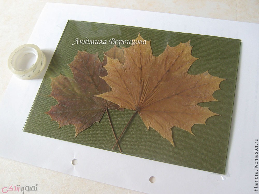 ساخت تابلو نقطه کوبی,تابلو برگ های پاییزی