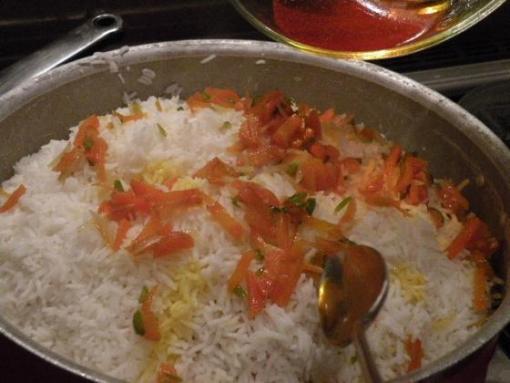 هویج پلو شبرازی , غذای محلی شیراز