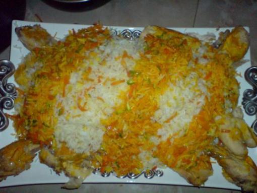 هویج پلو شیرازی , غذای محلی شیراز