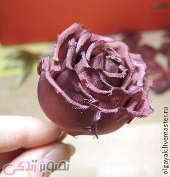 گلسازی با پارچه,ساخت گل رز پارچه ای,آموزش گلسازی