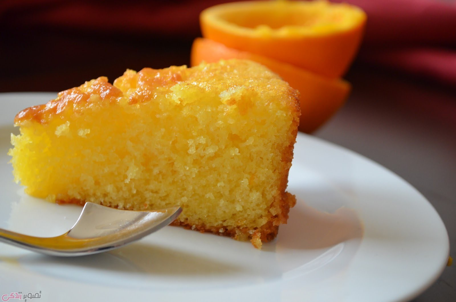 کیک پرتقالی,کیک تولد,کیک خانگی