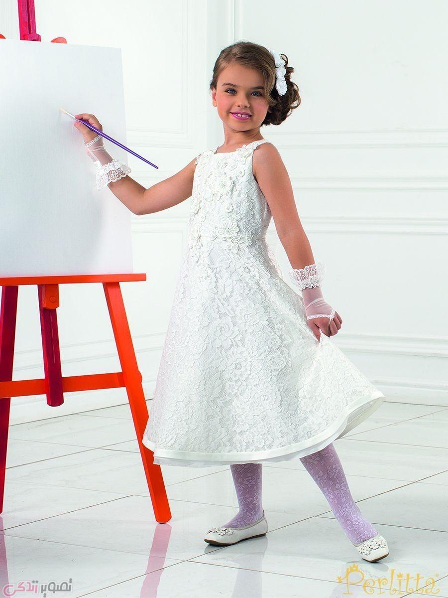 پبراهن سفید مجلسی, مدل لباس مجلسی بچگانه