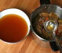استاک قهوه ای , استاک گوشت,brown stock