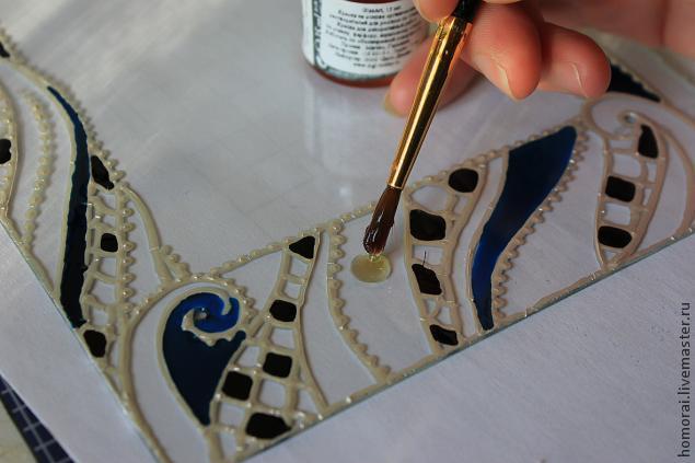آموزش ویترای  , تزیین قاب با نقاشی روی شیشه | آموزش ویترای | ساخت لاینر دست ساز