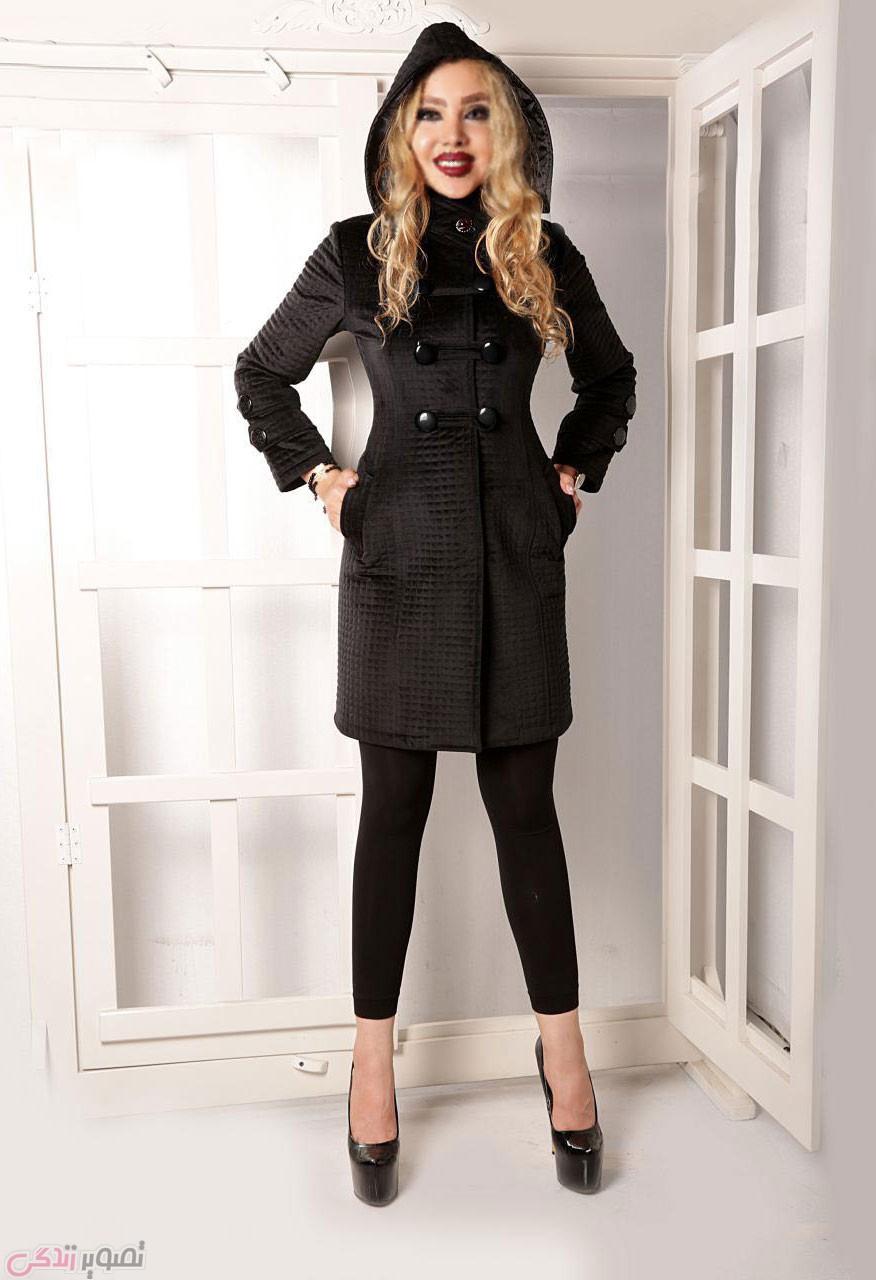شیک ترین مدل مانتو پاییزی ,پالتو زنانه, مانتو کلاه دار