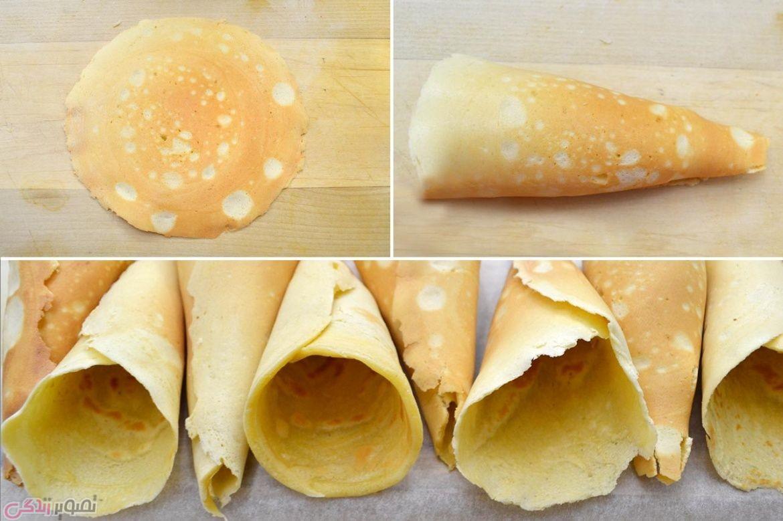 نان، شیرینی، دسر  , طرز تهیه نان بستنی خانگی | نان بستنی قیفی خانگی بسازید