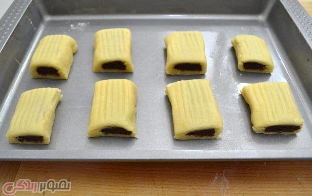 نان، شیرینی، دسر  , طرز تهیه شیرینی دو رنگ | بیسکویت دو رنگ عصرانه | شیرینی عید نوروز