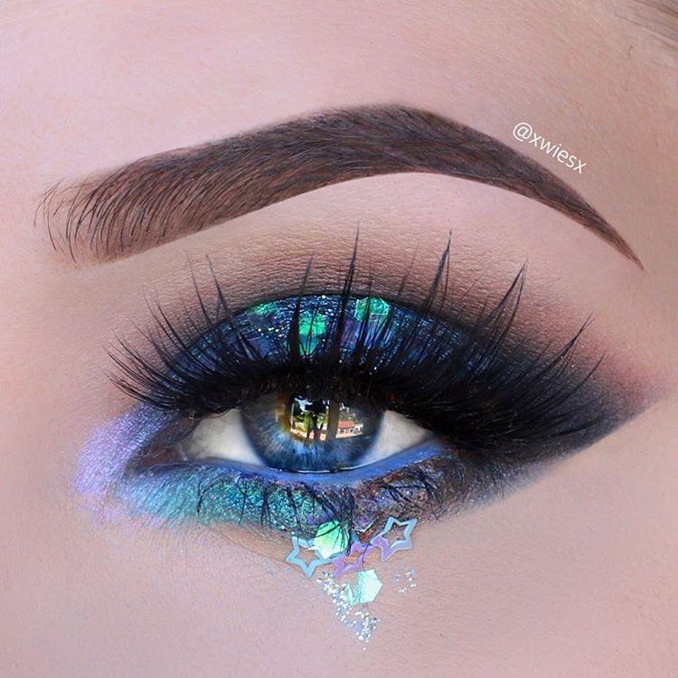 مدل آرایش چشم سایه آبی