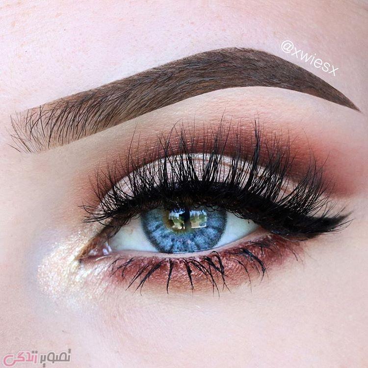 مدل آرایش چشم دخترانه, آرایش چشم اروپایی, مدل سایه چشم