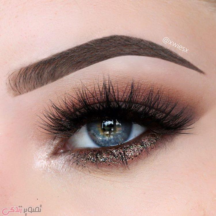 آرایش چشم دخترانه, آرایش چشم اروپایی, مدل سایه چشم