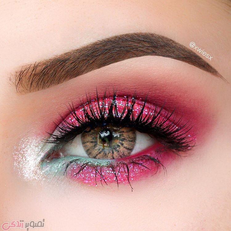 آرایش صورت  , جدیدترین مدل های آرایش چشم و سایه چشم مجلسی | آرایش چشم عروس