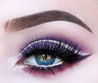 آرایش چشم بنفش,سایه چشم بنفش,آرایش چشم مجلسی
