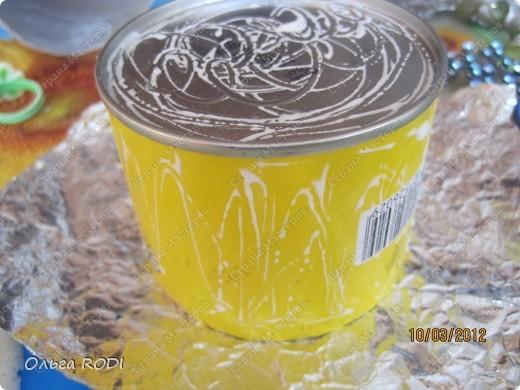 کاردستی بازیافتی ,تزیین قوطی با خمیر نمکی