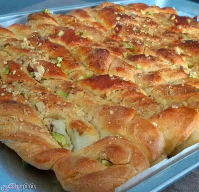 طرز تهیه نان آچما با ارده و گردو
