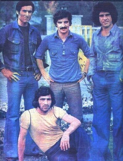 منصور پورحیدری در کنار ناصر حجازی، منصور رشیدی و رضا عادلخانی