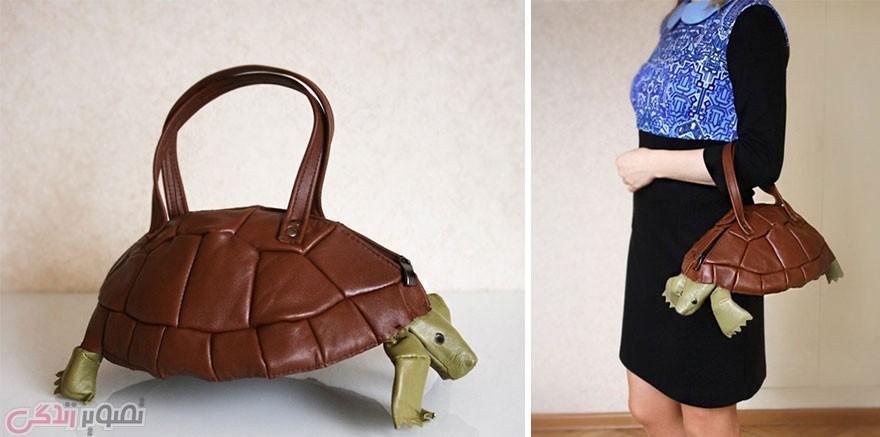 مدل کیف چرمی زنانه, مدل کیف فانتزی, کیف به شکل لاک پشت