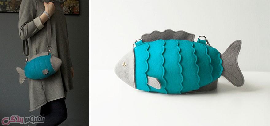 مدل کیف چرمی زنانه, مدل کیف فانتزی, کیف به شکل ماهی