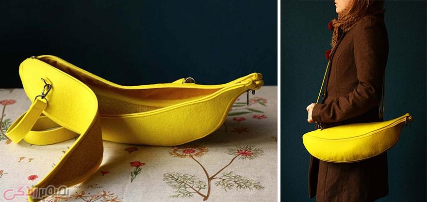 مدل کیف چرمی زنانه, مدل کیف فانتزی, کیف به شکل موز