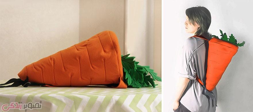 مدل کیف چرمی زنانه, مدل کیف فانتزی, کیف به شکل هویج