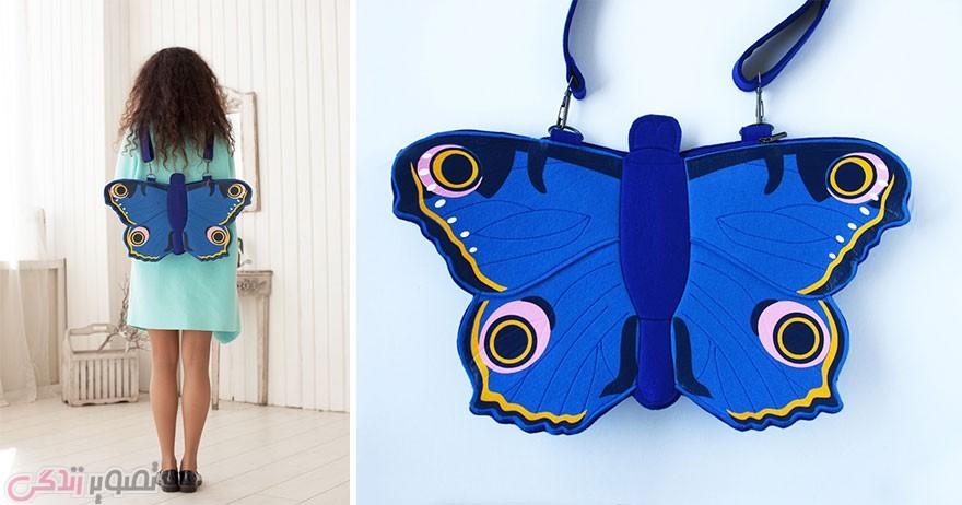 مدل کیف چرمی زنانه, مدل کیف فانتزی, کیف به شکل پروانه