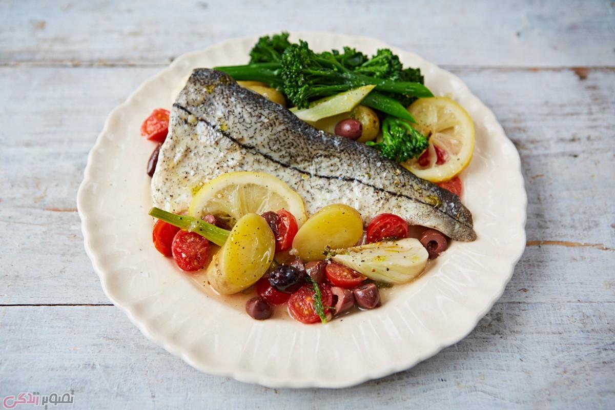 طرز پخت ماهی در فر با فویل
