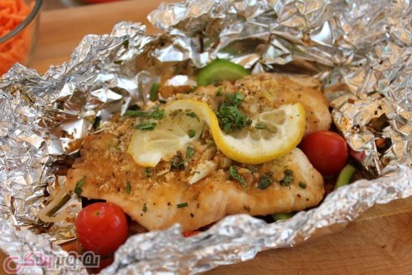 دستور پخت غذا  , طرز تهیه ماهی رژیمی | دستور پخت ماهی در فر با فویل