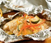 طرز تهیه ماهی در فر با فویل