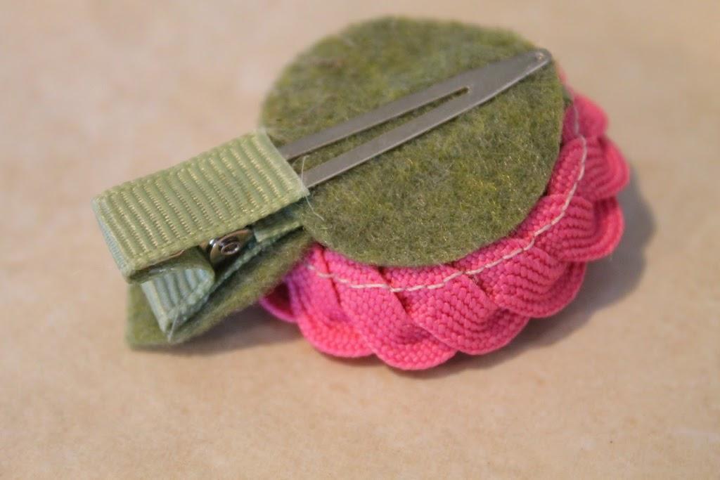 تزیین کلیپس مو با نوار زیگزاگ,آموزش گلسازی