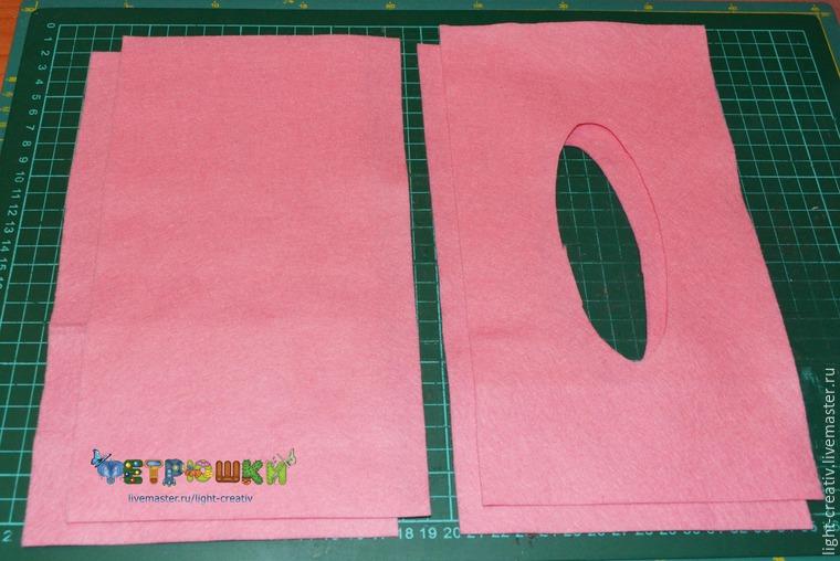 دستمال جیبی با نمد آموزش دوخت جا دستمال کاغذی نمدی | دوخت جعبه دستمال کاغذی ...