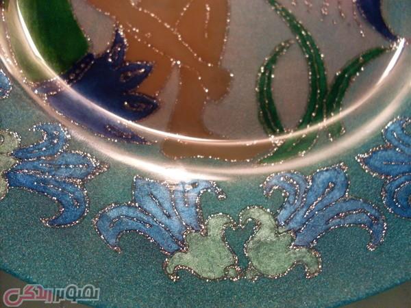 نقاشی روی بشقاب بلور, تزیین ظروف, تزیین بشقاب