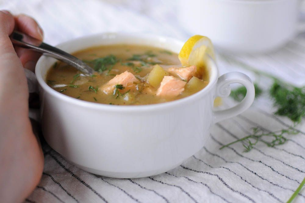 آبگوشت سالمون, سوپ ماهی سالمون,سوپ مجلسی
