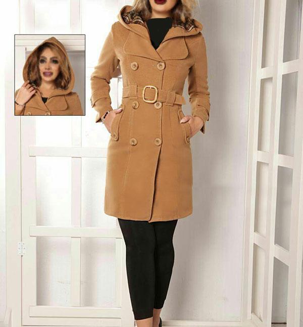 مدل پالتو زنانه کلاه دار ایرانی
