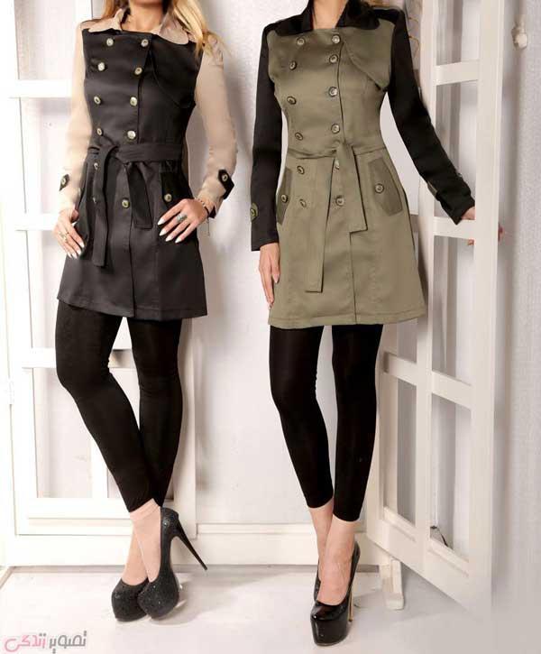 مدل مانتو اسپرت پاییزی دخترانه چهار دکمه
