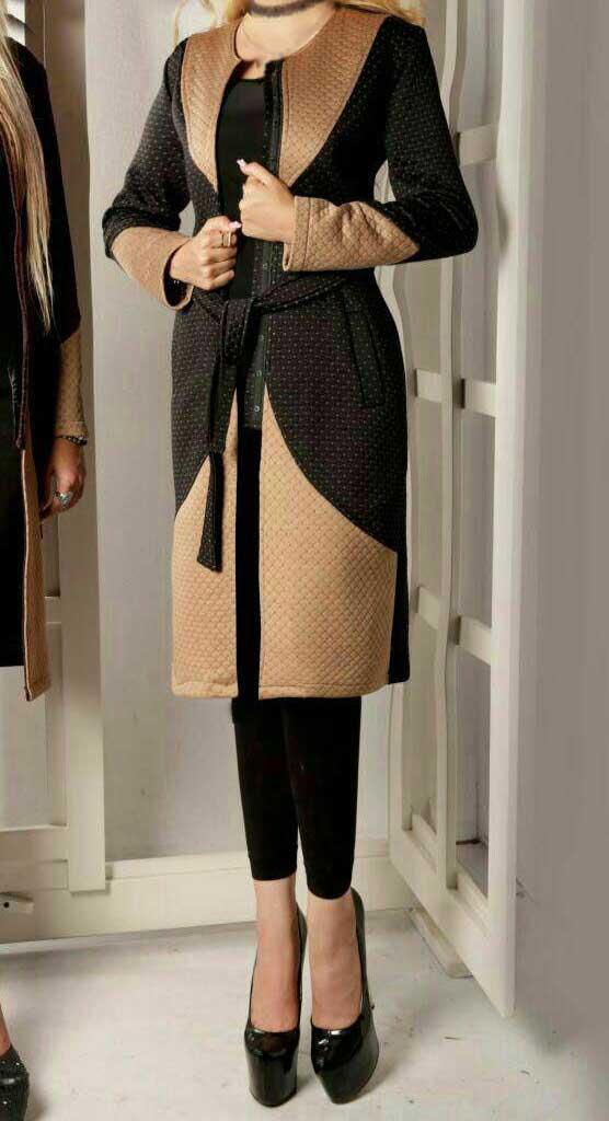 مدل پالتو زنانه پاییزی رنگ مشکی