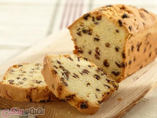 نان، شیرینی، دسر  , طرز تهیه کیک صبحانه کشمشی خوشمزه و پف دار